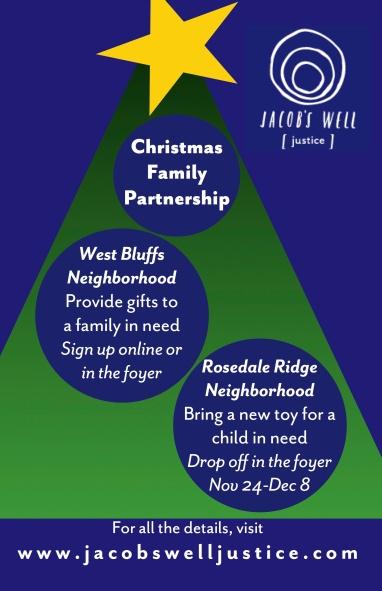 Christmas Family Partnership poster