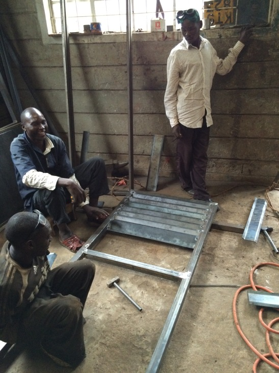 Sam spent several days in nearby town Kitale having doors and windows at the local